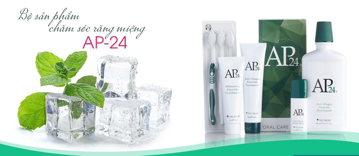 Review bộ sản phẩm hỗ trợ làm trắng răng AP24 của Mỹ