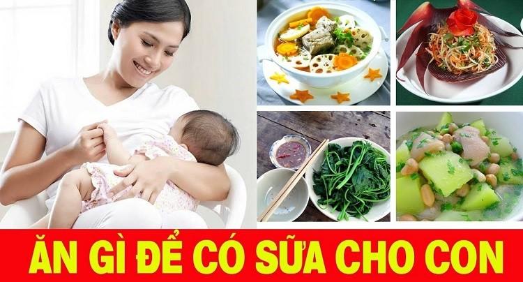 Mẹ ít sữa nên ăn gì? Thức ăn lợi sữa hàng đầu cho mẹ sau sinh