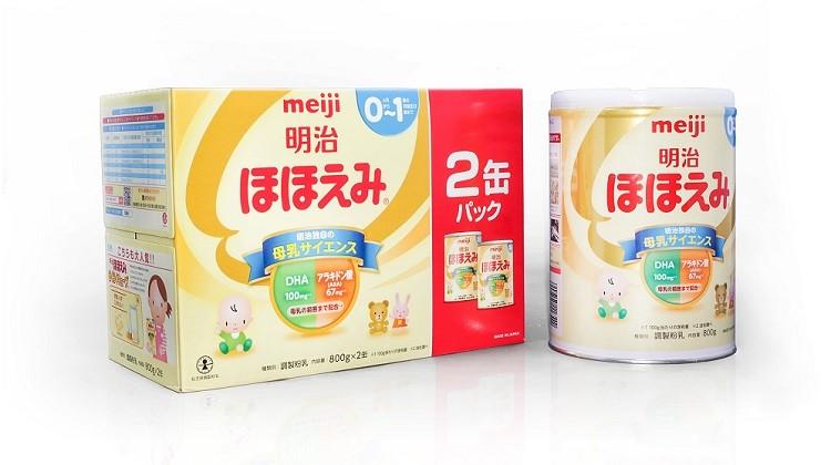 Cách pha sữa Meiji số 0-1 dạng bột, dạng thanh