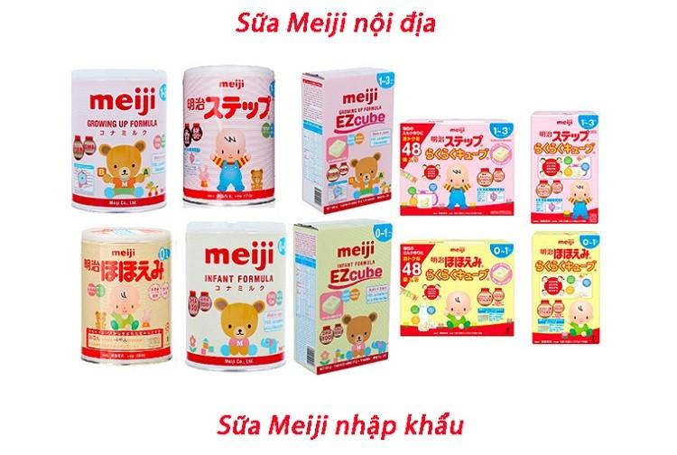 Sữa Meiji nội địa và nhập khẩu khác nhau như thế nào