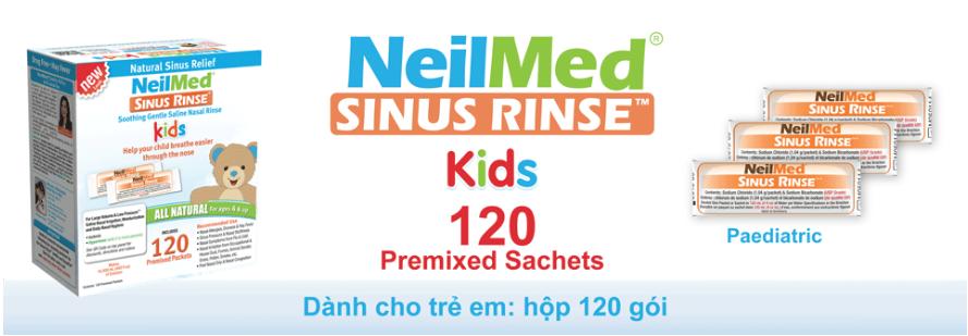 Muối rửa mũi Neilmed bảo vệ đường hô hấp cho trẻ có tốt không?