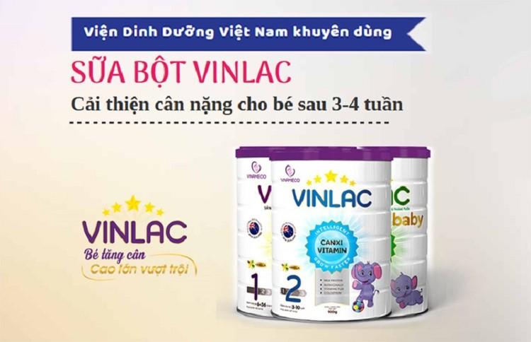 Sữa Vinlac cho trẻ phát triển toàn diện