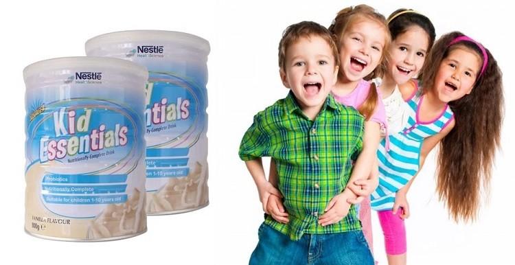 Cách pha sữa Kid Essentials Nestle