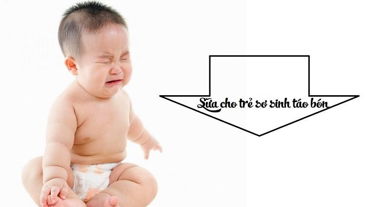 Sữa dành cho trẻ sơ sinh bị táo bón
