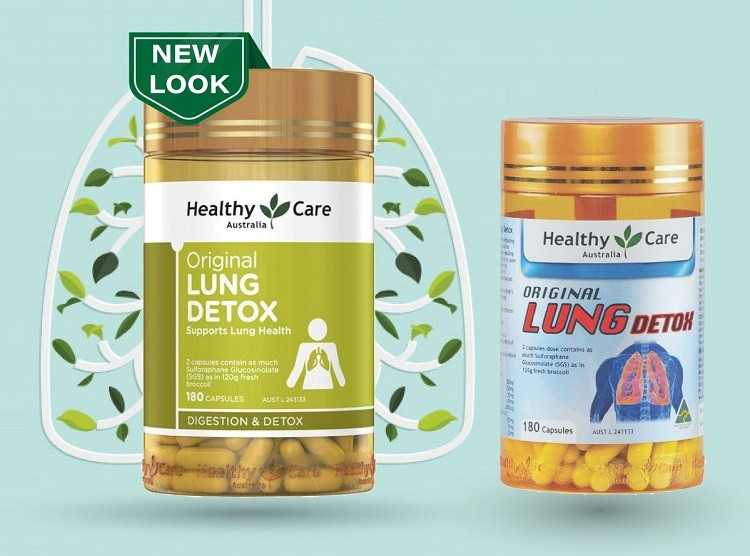 Review giải độc phổi Healthy Care Original Lung Detox 180 viên