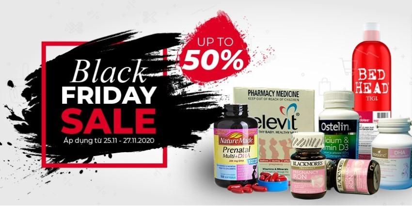 Siêu sale Black Friday giảm giá lớn nhất năm tại DailyVita.vn - Giảm tới 50% các sản phẩm mẹ và bé