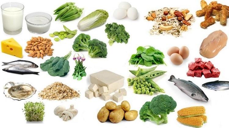 các loại rau củ xanh