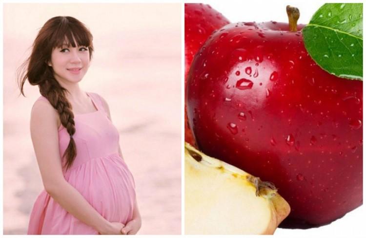 mẹ bầu ăn táo