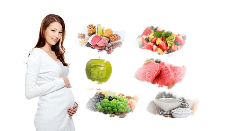 dinh dưỡng của mẹ bầu