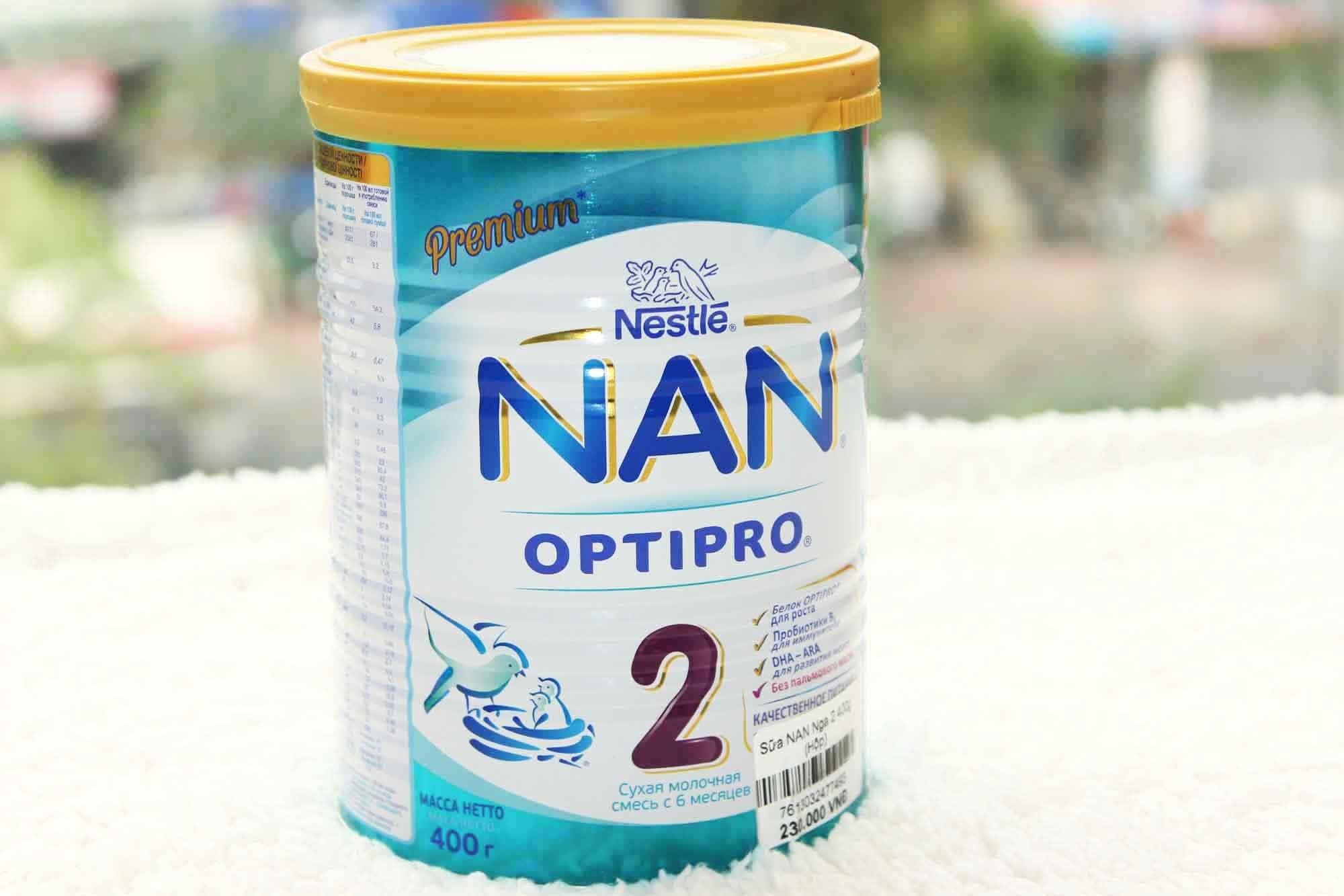 Thành phần chính có trong sản phẩm sữa bột Nan Nga an toàn và tốt cho trẻ sơ sinh
