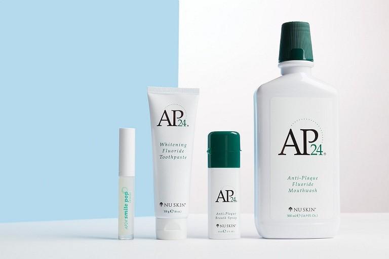 Bộ sản phẩm hỗ trợ làm trắng răng AP24 gồm 3 sản phẩm chính