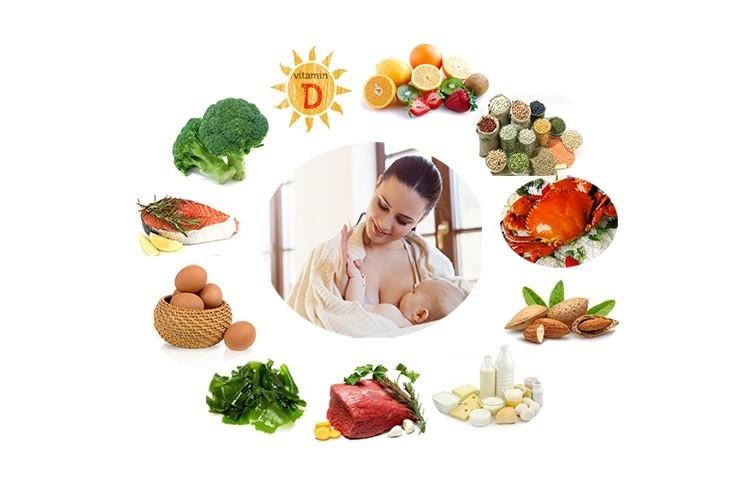 Mẹ sau sinh nên ăn đủ các chất dinh dưỡng
