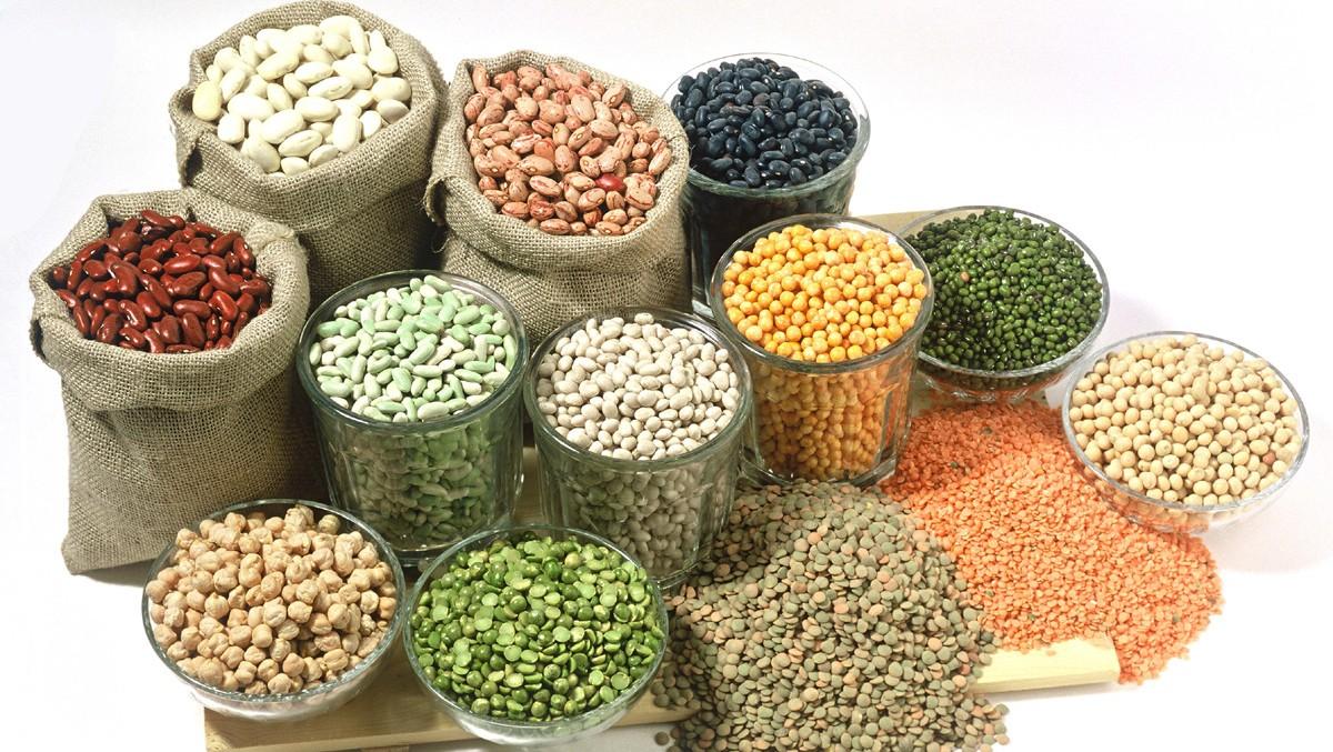 Đậu các loại, ngũ cốc nguyên cám