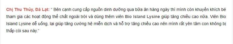 viên uống bio island lysine, viên uống tăng chiều cao bio island, viên uống tăng chiều cao bio island lysine 60v