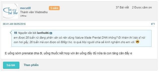 Nature Made Prenatal Multi + DHA, Nature Made Prenatal Multi + DHA có tốt không