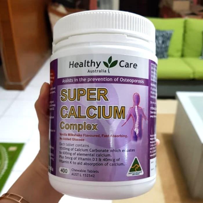 super calcium complex, Healthy Care Super Calcium Complex 400 chewable tablets, super calcium complex health care, Healthy Care Super Calcium Complex chemist warehouse, healthy care australia super calcium complex